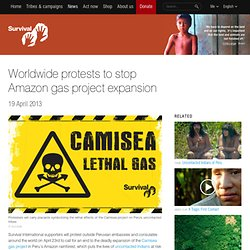 Worldwide protests to stop Amazon gas project expansion