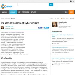 The Worldwide Issue of Cybersecurity