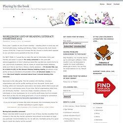 Worldwide list of reading/literacy charities 2012