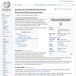 Society for Worldwide Interbank Financial Telecommunication