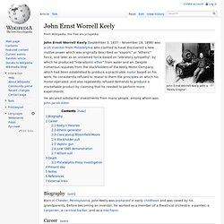 John Ernst Worrell Keely