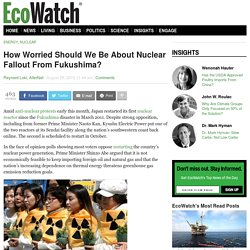 How Worried Should We Be About Nuclear Fallout From Fukushima?