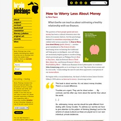 How to Worry Less About Money