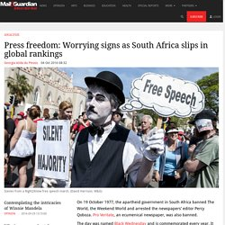 Press freedom: Worrying signs as South Africa slips in global rankings