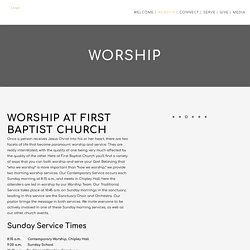 Worship at First Baptist Church Pensacola