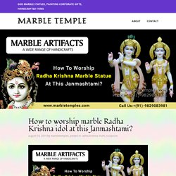 How to worship marble Radha Krishna idol at this Janmashtami? – Marble Temple