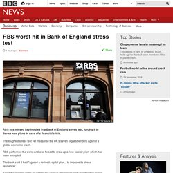 RBS worst hit in Bank of England stress test