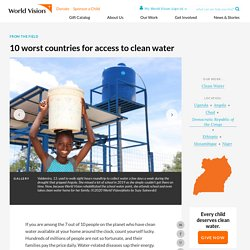 10 worst countries for access to clean water