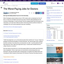 the-worst-paying-jobs-for-doctors: Personal Finance News from Yahoo! Finance
