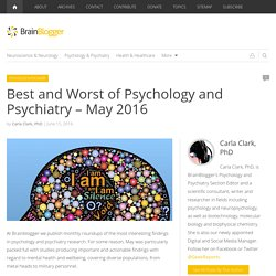 Best and Worst of Psychology and Psychiatry – May 2016