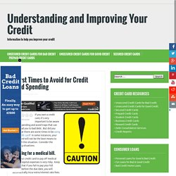 Worst Times to Avoid for Credit Card Spending