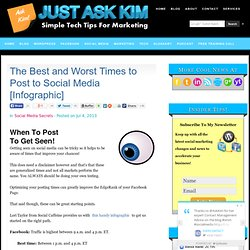 The Best and Worst Times to Post to Social Media [Infographic]
