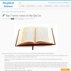 Top 5 worst verses in the Qur'an - Skeptical Science