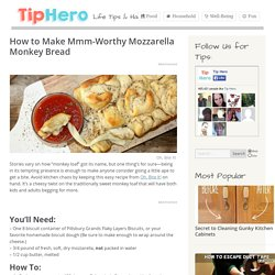 How to Make Mmm-Worthy Mozzarella Monkey Bread