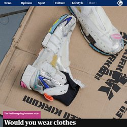 Would you wear clothes made from rubbish?