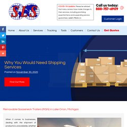 Why You Would Need Shipping Services