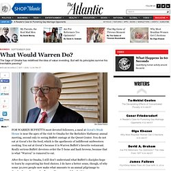 Magazine - What Would Warren Do?