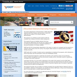 Wounded Veterans Internship Program