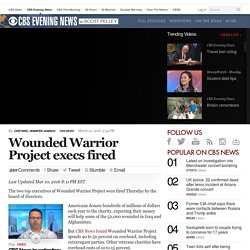 Wounded Warrior Project Execs Fired