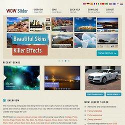 WOW Slider : jQuery Image Slider & Carousel