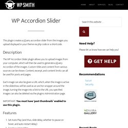 WP Accordion Slider - WP Smith
