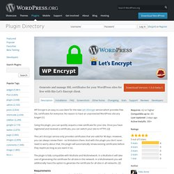 WP Encrypt — WordPress Plugins