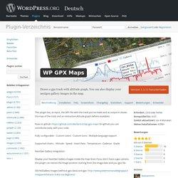 WP GPX Maps — WordPress Plugins