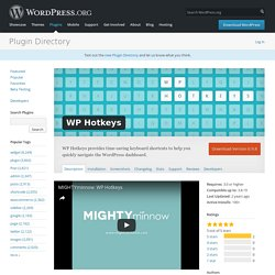 WP Hotkeys — WordPress Plugins