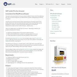 WP-Lister Pro for Amazon - WP Lab