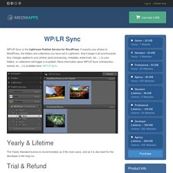 WP/LR Sync – Meow Apps Store