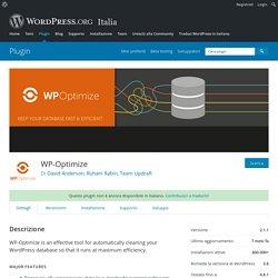 WP-Optimize — Plugin di WordPress