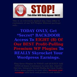 WP Plugins Blowout