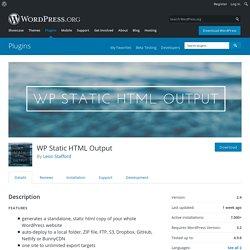 WP Static HTML Output