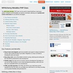 MetaBox PHP Class - WPAlchemy