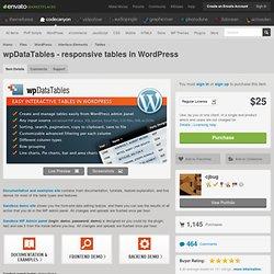 wpDataTables - responsive tables in WordPress