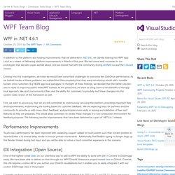 WPF in .NET 4.6.1