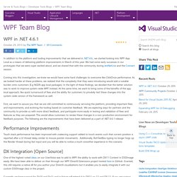 WPF in .NET 4.6.1