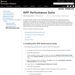 WPF Performance Suite