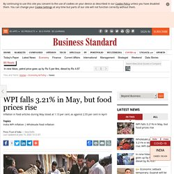 WPI falls 3.21% in May, but food prices rise