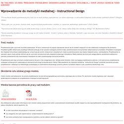Wprowadzenie do metodyki medialnej - Instructional Design