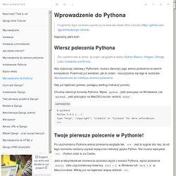 Wprowadzenie do Pythona · Django Girls Tutorial