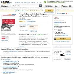 Python for Data Analysis: Data Wrangling with Pandas, NumPy, and IPython: Amazon.co.uk: Wes McKinney: 9781449319793: Books