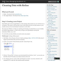 Cleaning Data with Refine — Data Wrangling Handbook 0.1 documentation