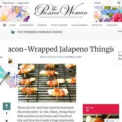 Bacon-Wrapped Jalapeno Thingies