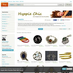 Wire Wrapped and Macrame Jewelry by Hyppiechic