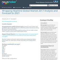 Wrapping Machine Global Market 2017 Analysis and Forecast to 2021