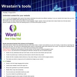 Wrastain's tools: Unlimited content for your website