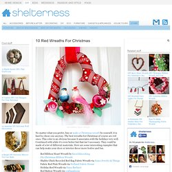 10 Red Wreaths For Christmas