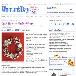 DIY Wreaths - Easy Holiday Crafts at WomansDay.com - Womans Day - StumbleUpon