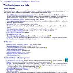 Wreck Databases